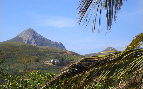 View of the hills on the south coast