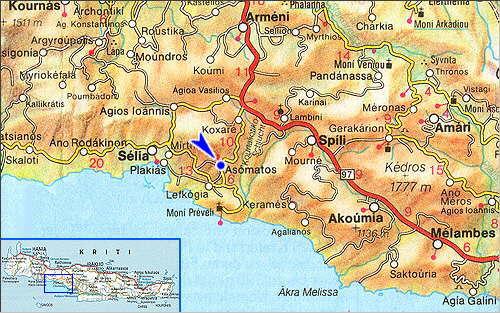 Asomatos: Site Map